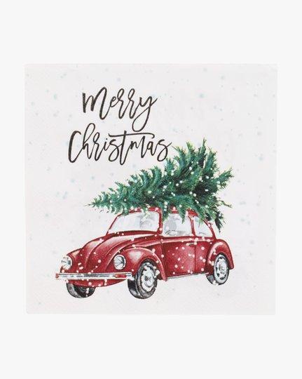 Paperiservetit, Christmas Car