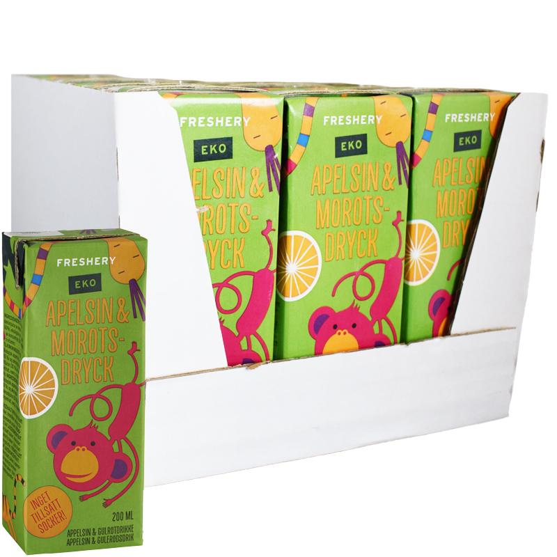 Eko Hel Låda Dryck Apelsin & Morot 15 x 200ml - 58% rabatt