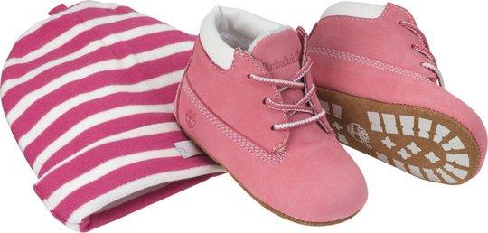 Timberland Crib Sett Boots og Lue, Rosa 15