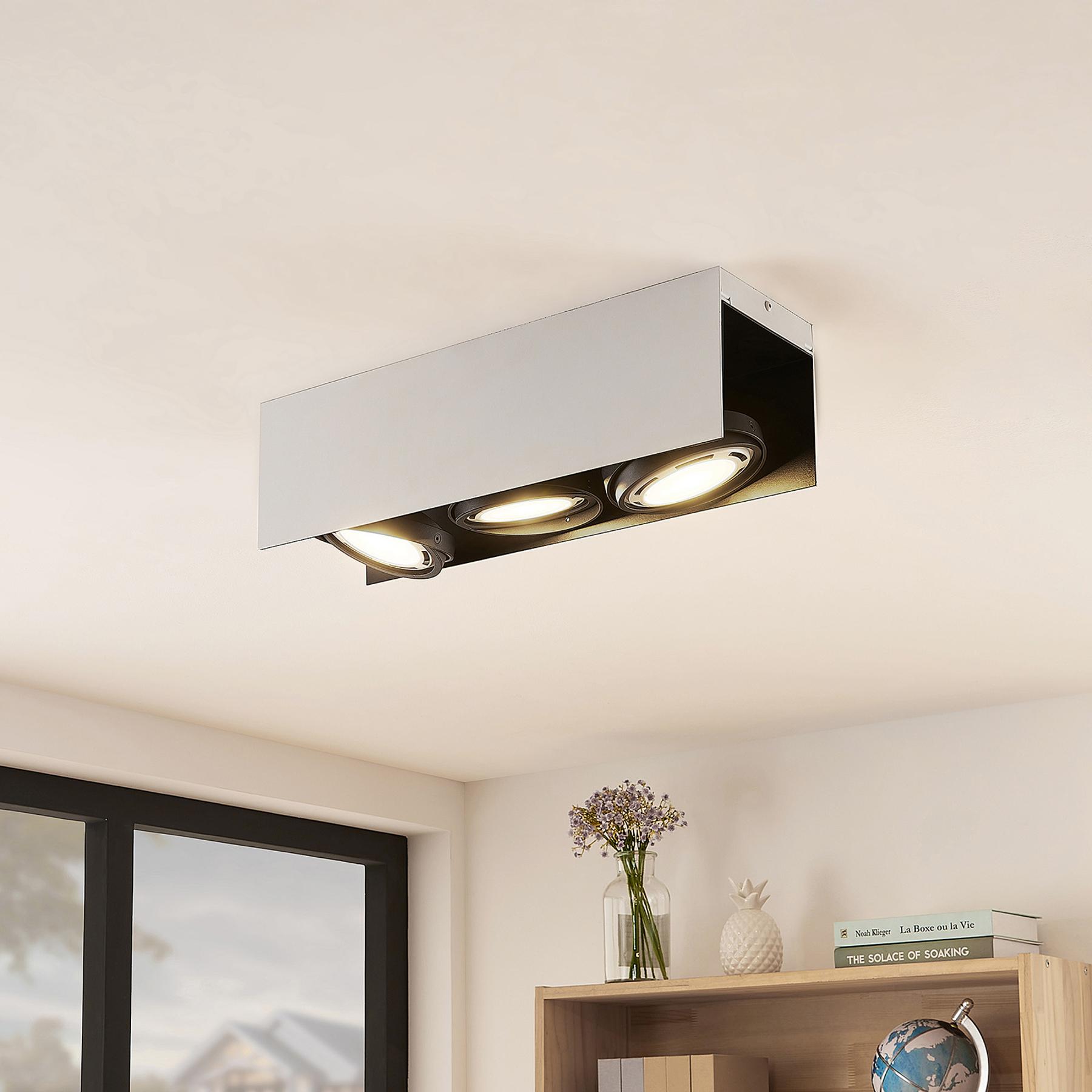 Arcchio Ocula -LED-kattokohdevalo GU10, 3-lamp.