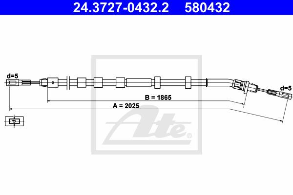 Käsijarruvaijeri ATE 24.3727-0432.2