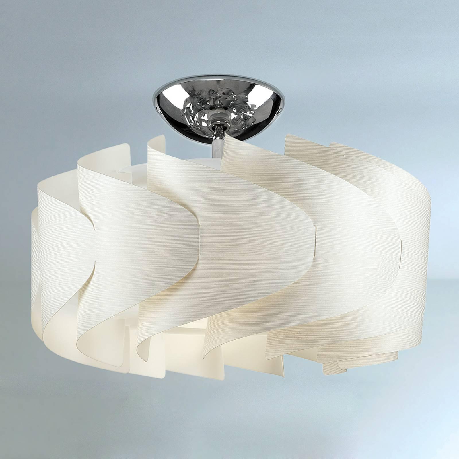 Sky Mini Ellix taklampe i hvitt treaktig utseende