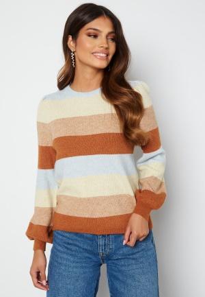 ONLY Katia L/S Stripe Pullover Pearl Blue Stripe Me XS