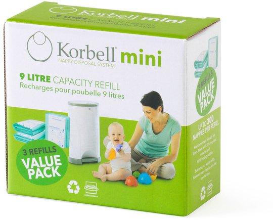 Korbell Mini Refill Bleiebøtte 3-pk