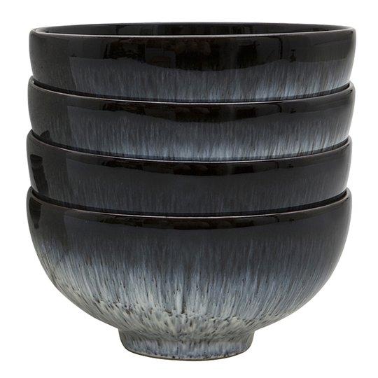Denby - Halo Skål 13 cm 4-pack Blå-svart