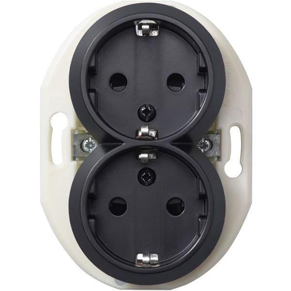 Schneider Electric Renova WDE011322 Seinäpistorasia ilman kehystä, maadoitettu, 2-osainen