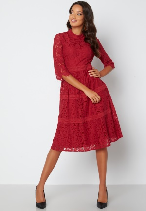 Happy Holly Madison lace dress Red 52