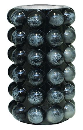 Bubbels Vas Stor Black Marble