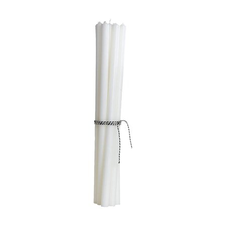 Pencil candles, White, 30 cm, Burning time 6 hours