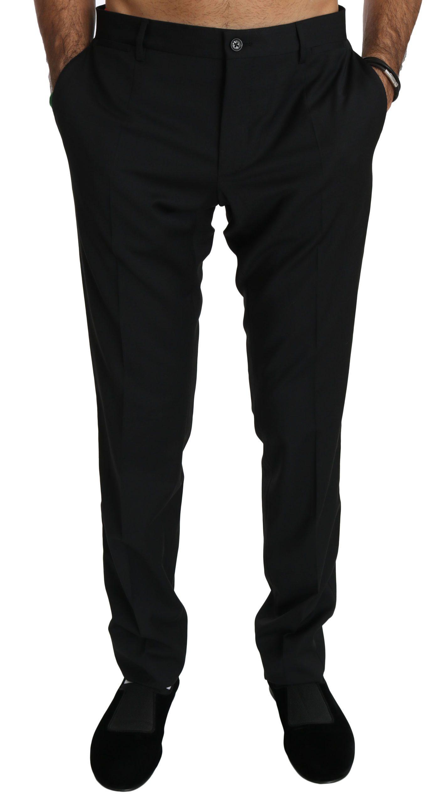 Dolce & Gabbana Men's Skinny Dress Wool Trouser Black PAN70760 - IT48   M