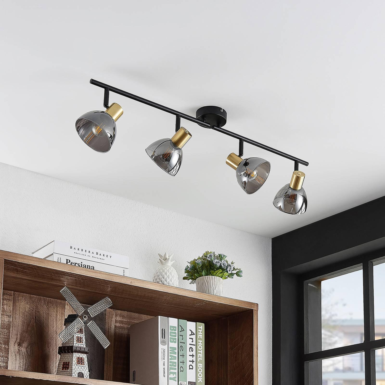 Lindby Aniol -kattokohdevalo, 4-lamppuinen