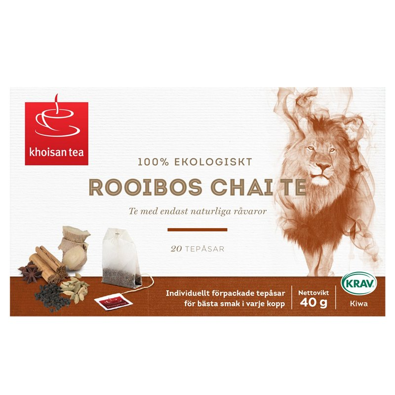 Luomu Rooibos Chai Tee 40g - 50% alennus