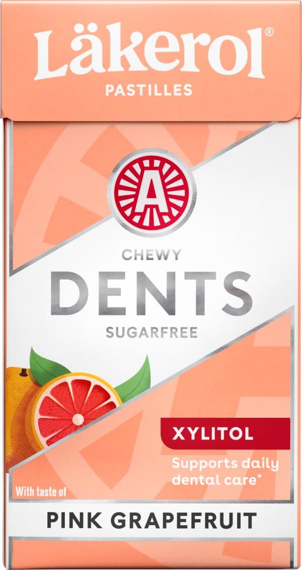 Läkerol Dents Pink Grapefruit 36g