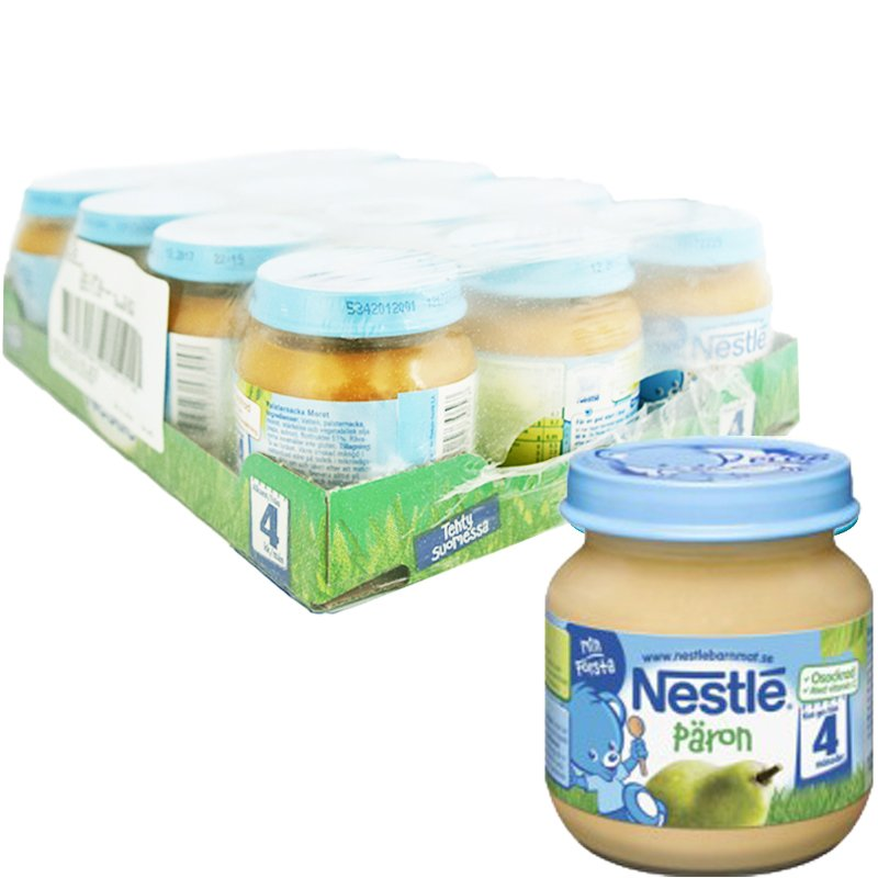 Kokonainen laatikko: Lastenruoka, Päärynäsose 12 x 125g - 22% alennus