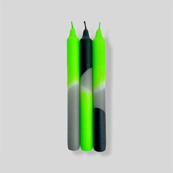 Racing Kawa Neon Dip Dye Taper Candles