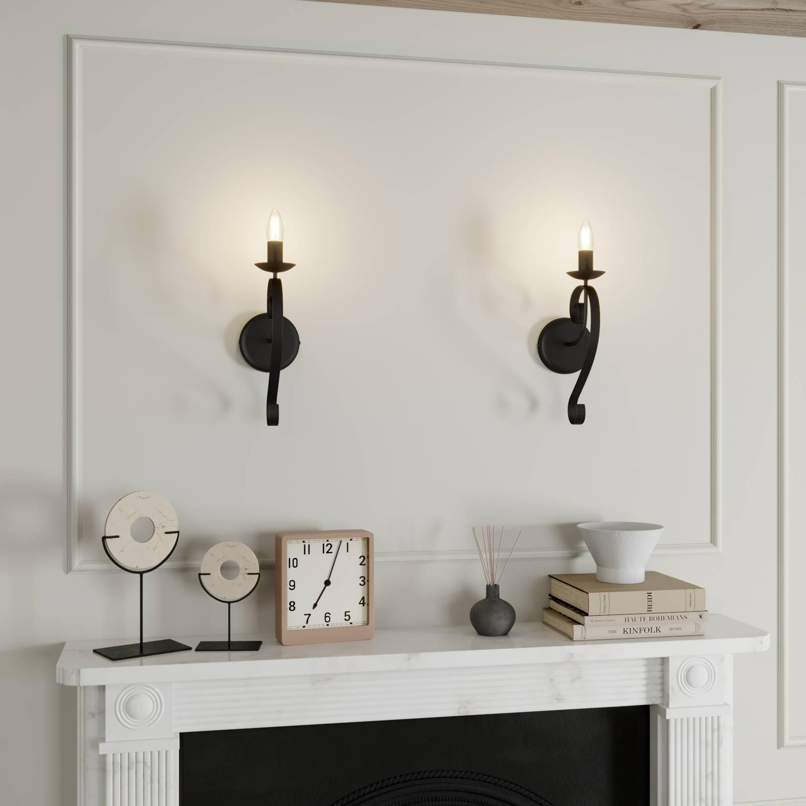 Lindby Shervan -seinälamppu, 1-lamppuinen, ruskea