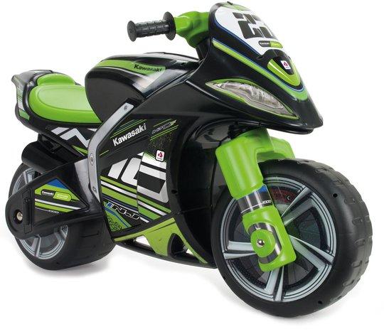 Injusa Gåbil Motorsykkel Kawasaki, Svart/Grønn