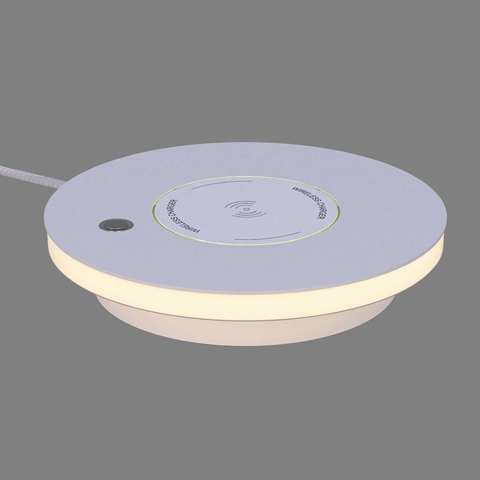 LED-pöytälamppu Ekil, Qi-latausasema, valkoinen