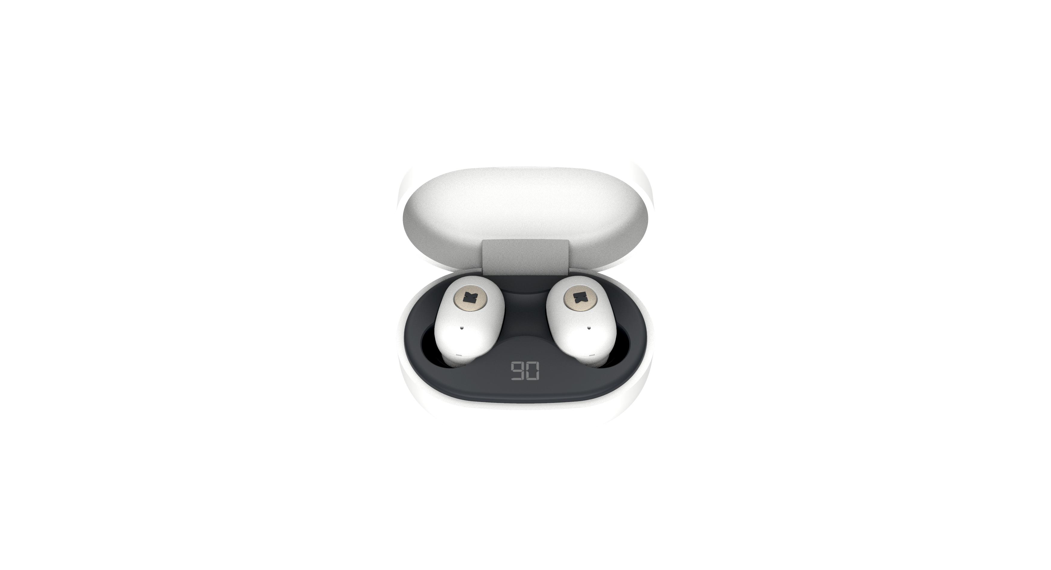 KreaFunk - aBEAN In-Ear Bluetooth Headphones - White (KFLP01)