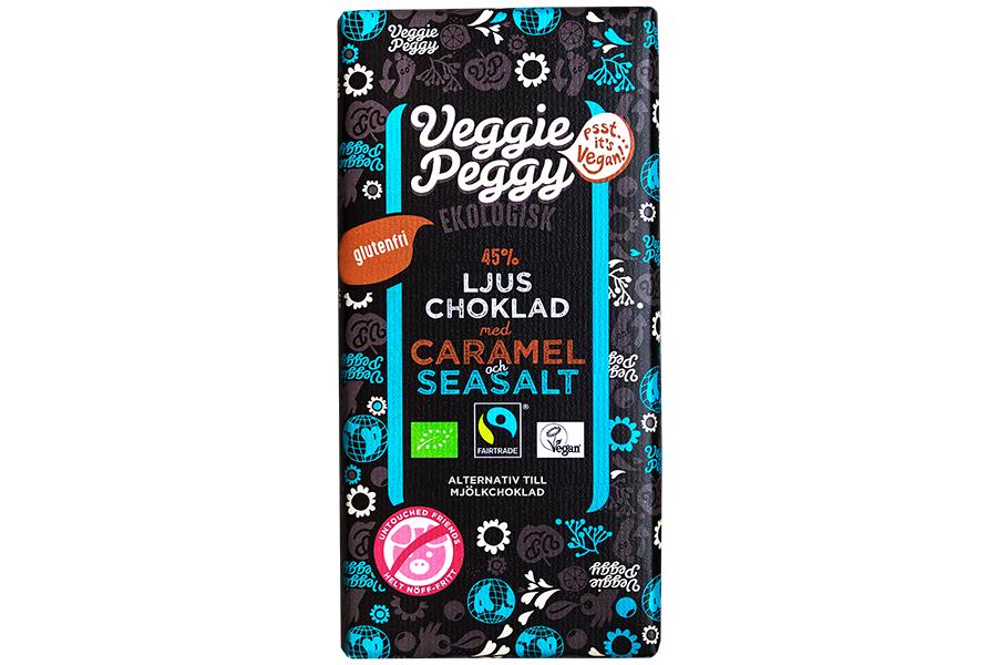 Veggie Peggy Ljus Choklad - Caramel & Seasalt 85g