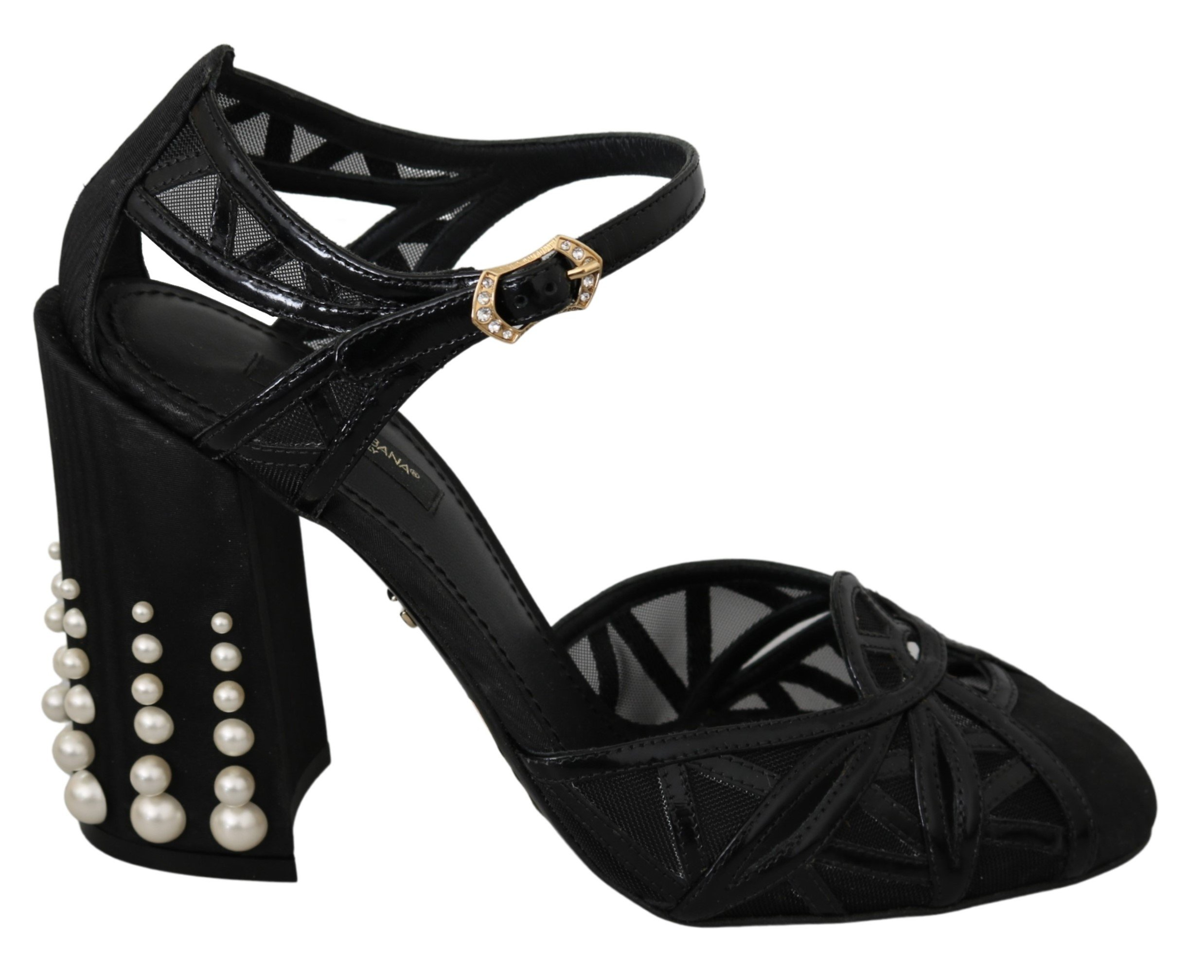 Dolce & Gabbana Women's Leather Strap Sandal Black LA6842 - EU39/US8.5