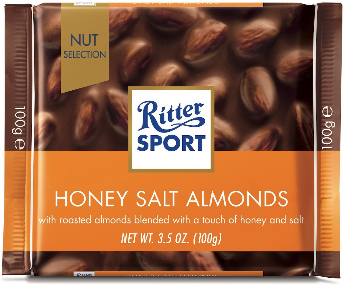 Ritter Sport Honey Salted Almond 100g