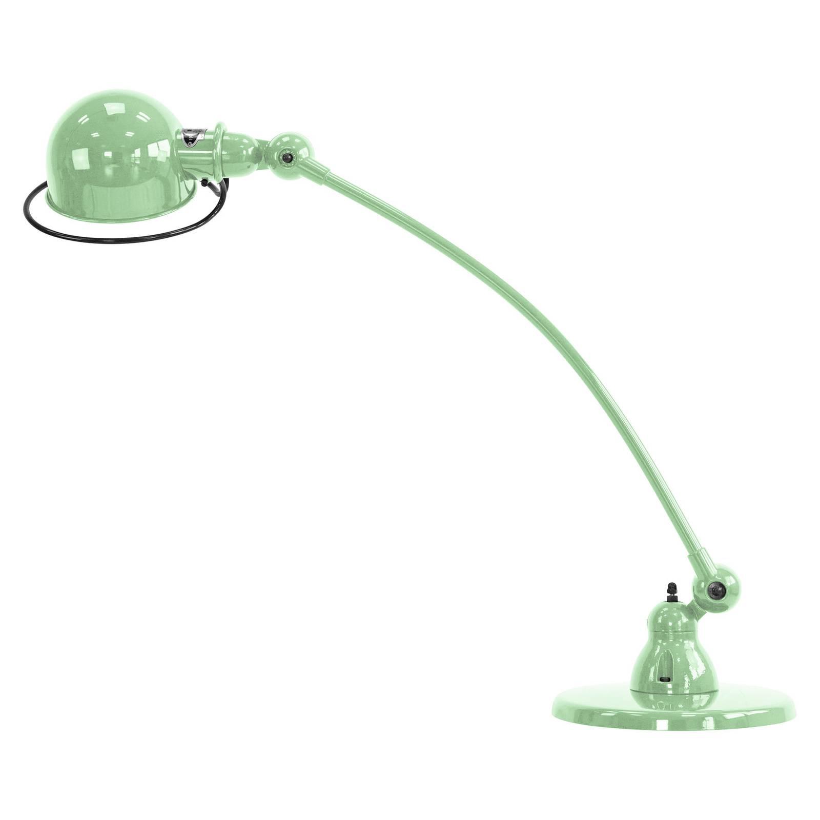 Jieldé Loft C6000 -pöytävalaisin, kaareva, vihreä