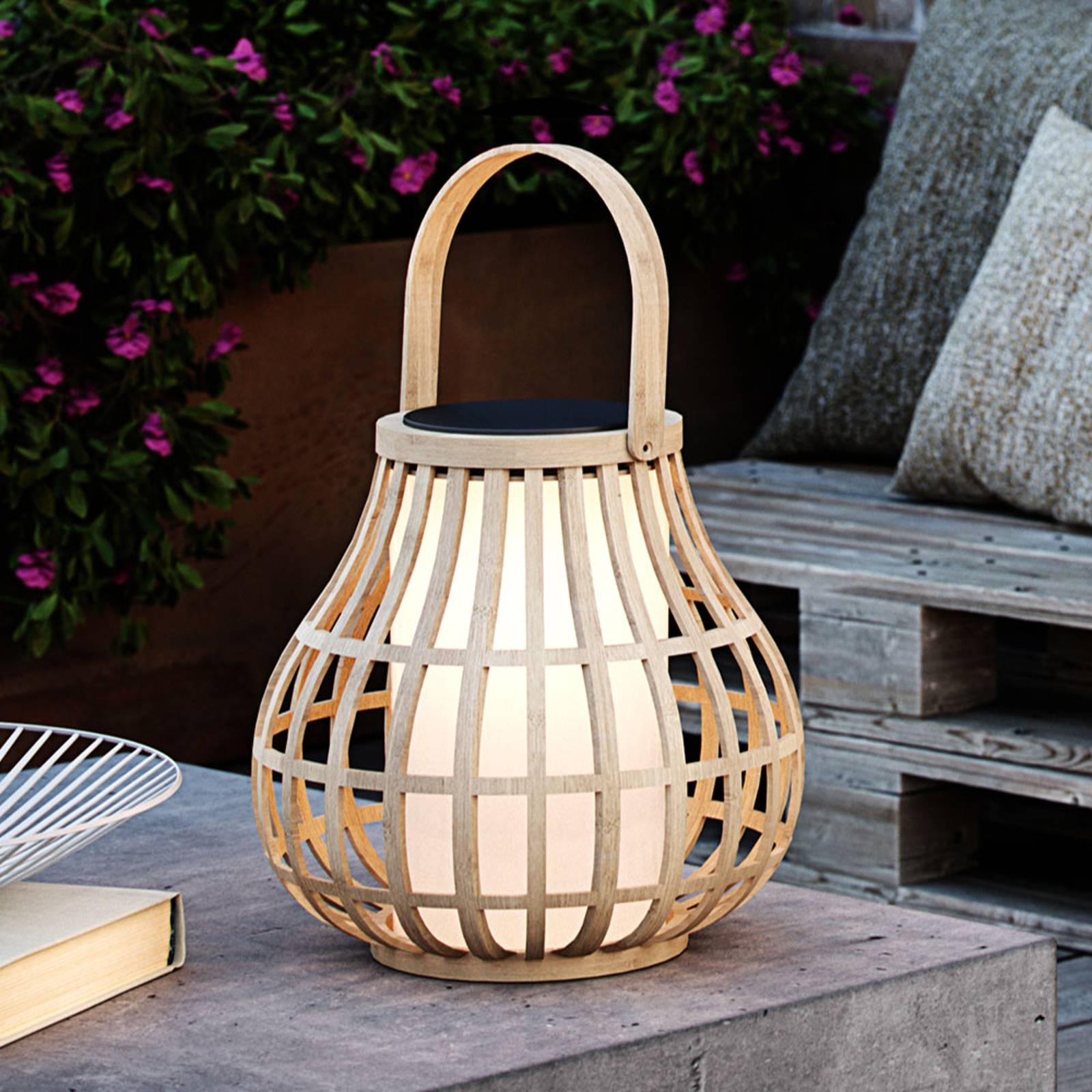 Aurinkokäyttöinen LED-koristevalaisin Leo bambua