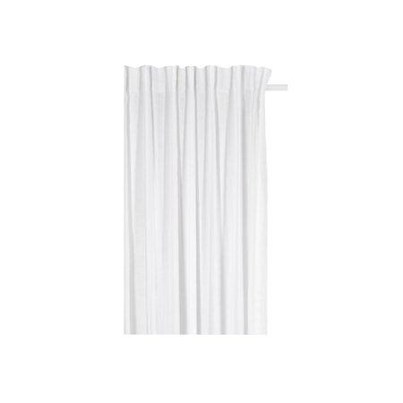 Hälsingland Gardin med rynkebånd Hvit 125x290 cm