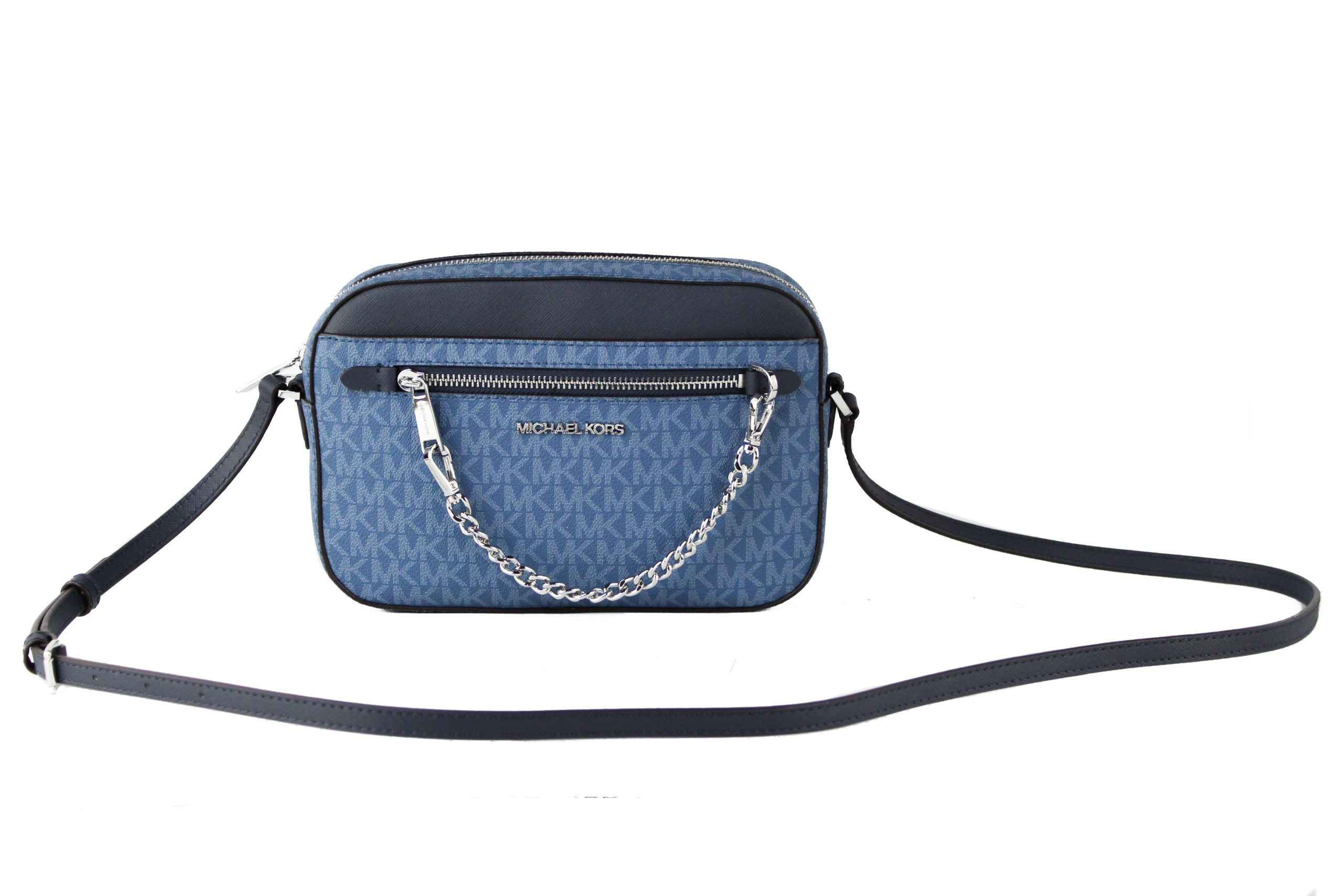 Michael Kors Women's Jet Set Item Crossbody Bag Blue 89815