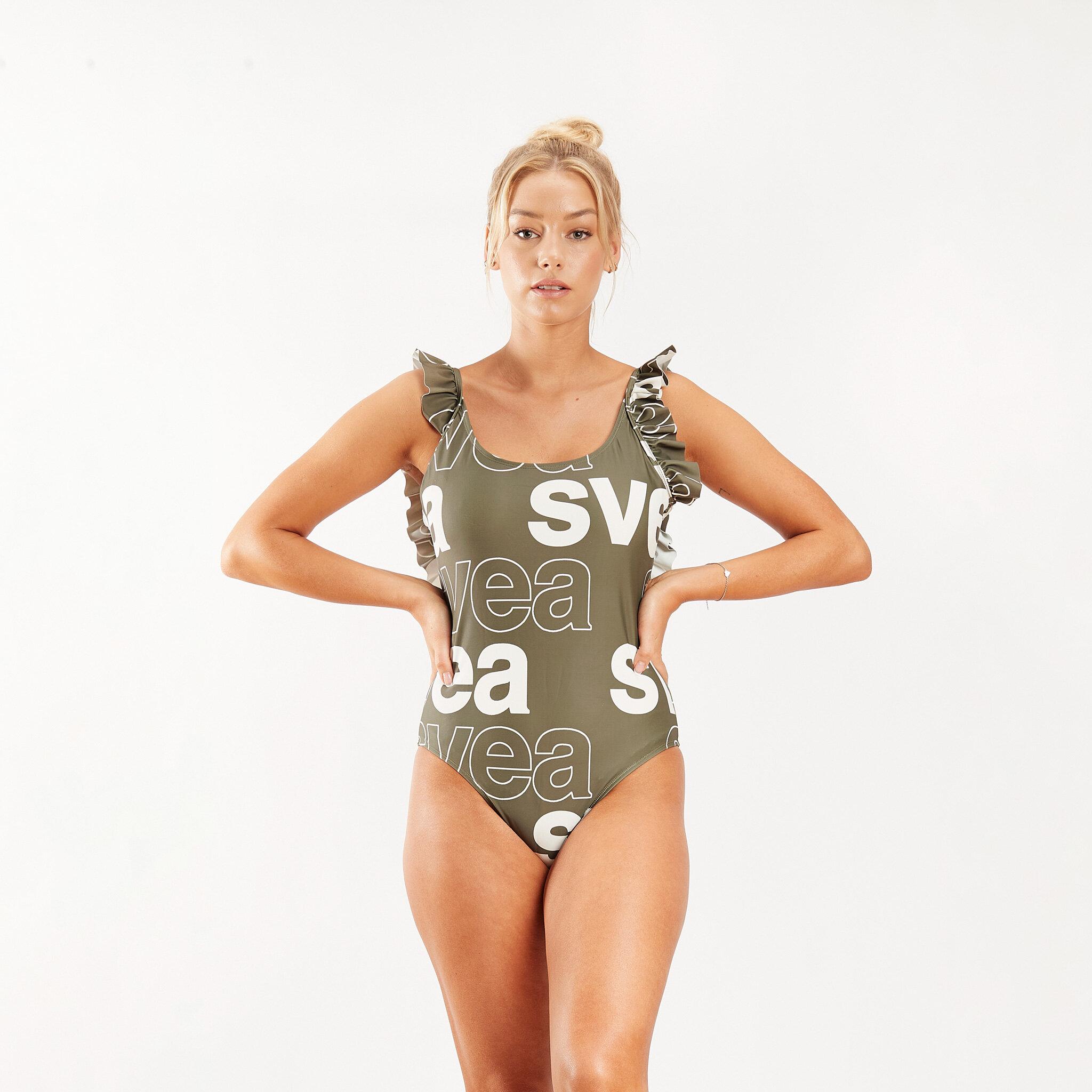 W. Ruffle Swimsuit