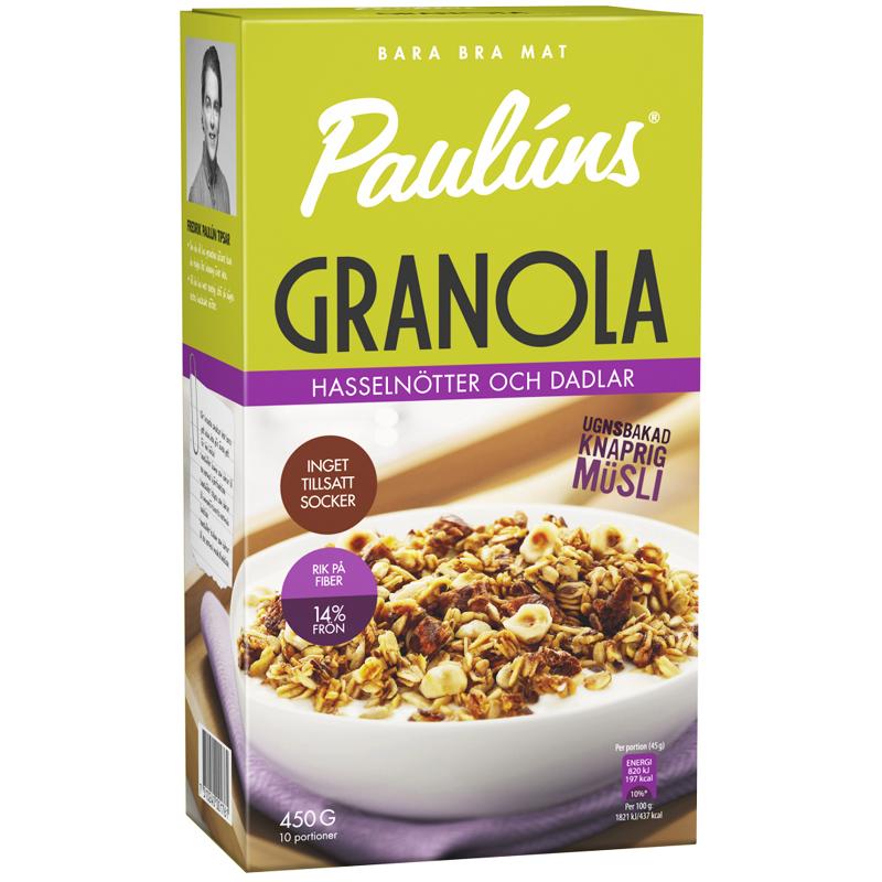 Granola Hasselnötter & Dadlar 450g - 31% rabatt