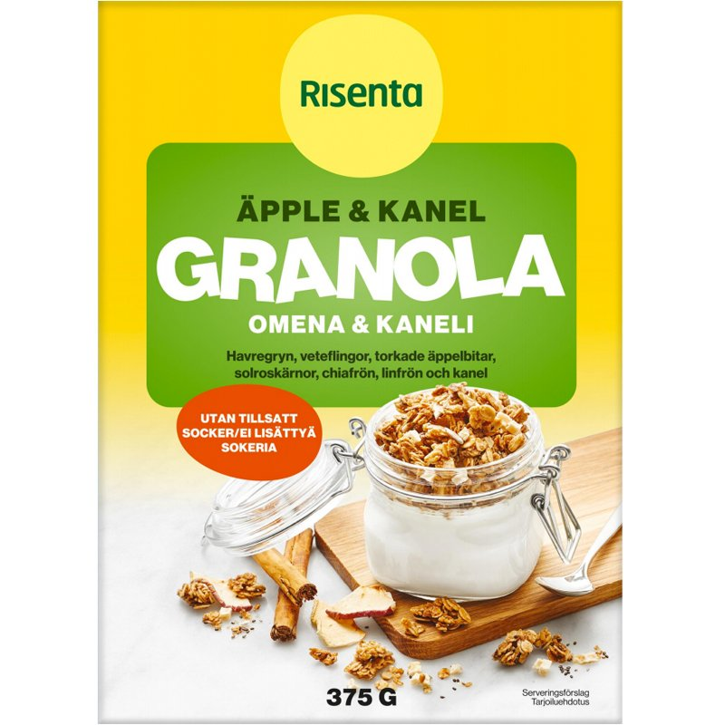 Granola Äpple & Kanel 375g - 44% rabatt