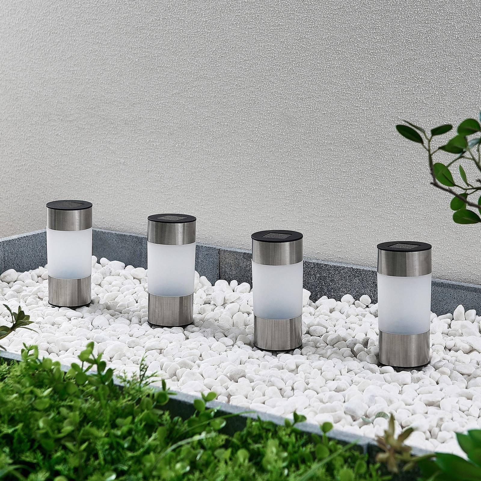 Lindby Jocob LED-aurinko-maapiikkivalaisin, 4 kpl