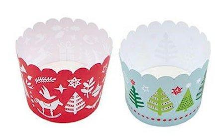 Julete bakeformer 12-pakning 60 x 55 mm