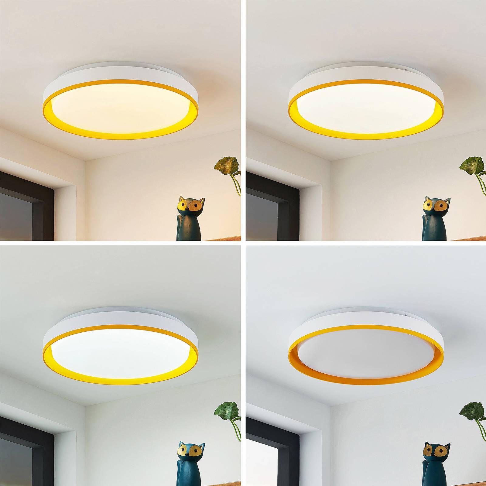 Lindby Divora -LED-kattovalaisin CCT Ø 41,5 cm