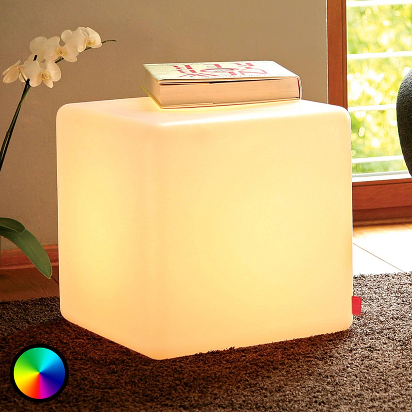 Käytännöllinen koristevalaisin Cube Indoor LED