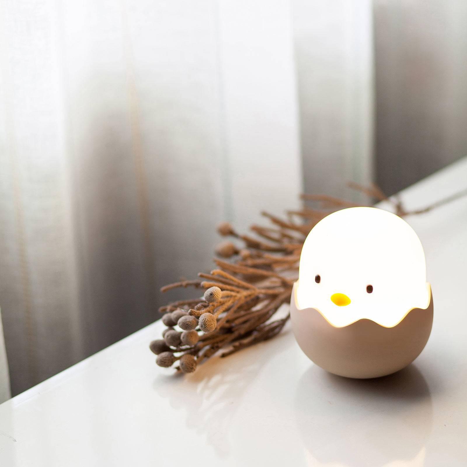 LED-nattlampe Eggy Egg med batteri