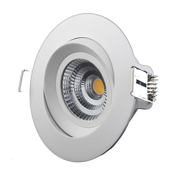 Designlight M-Penny Downlight 7 W, vinklingsbar, 6-pakning 2700 K, 510 lm
