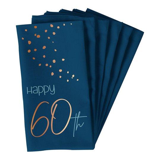 Servetter Happy 60th True Blue - 10-pack
