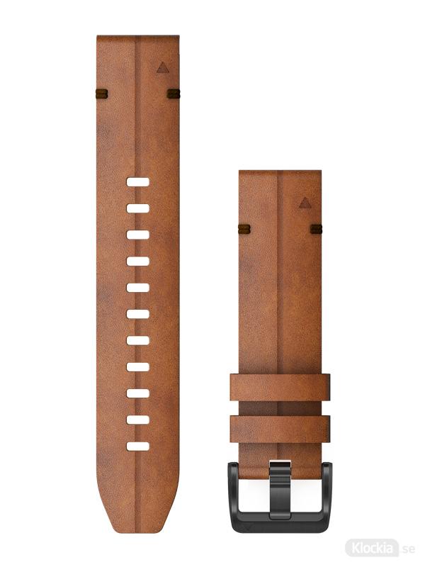 Garmin QuickFit 22mm - Klockarmband, Kastanjefärgat Läder