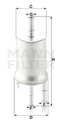 Polttoainesuodatin MANN-FILTER WK 6015