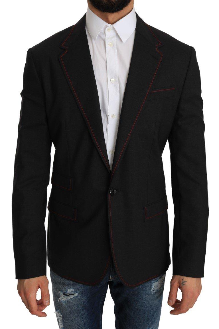Dolce & Gabbana Men's Wool Slim Blazer Gray JKT2196 - IT48   M