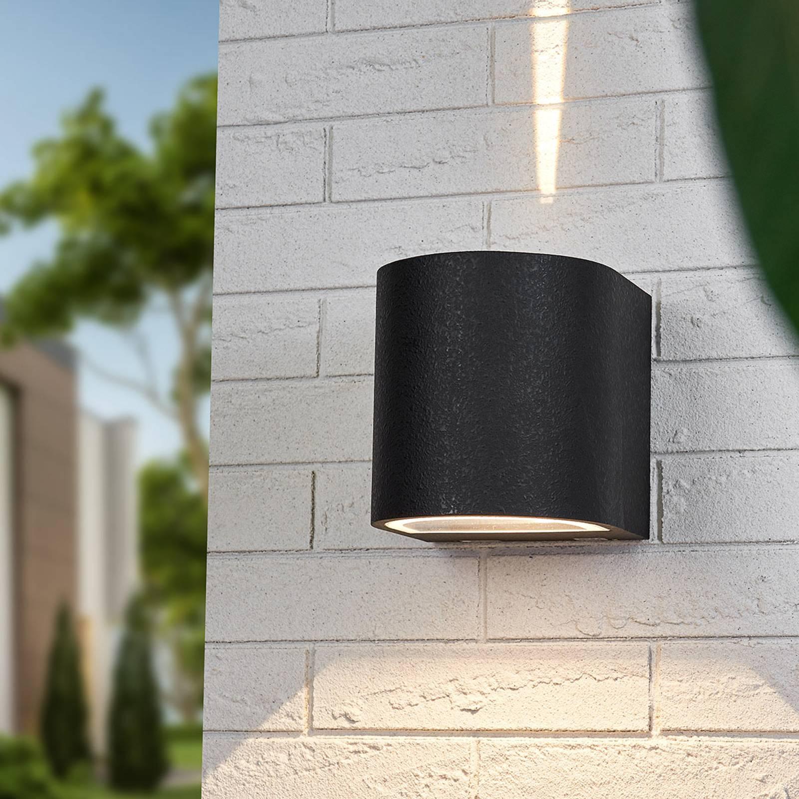 Musta Lenis-LED-seinäkohdevalo valaisu kapea-leveä