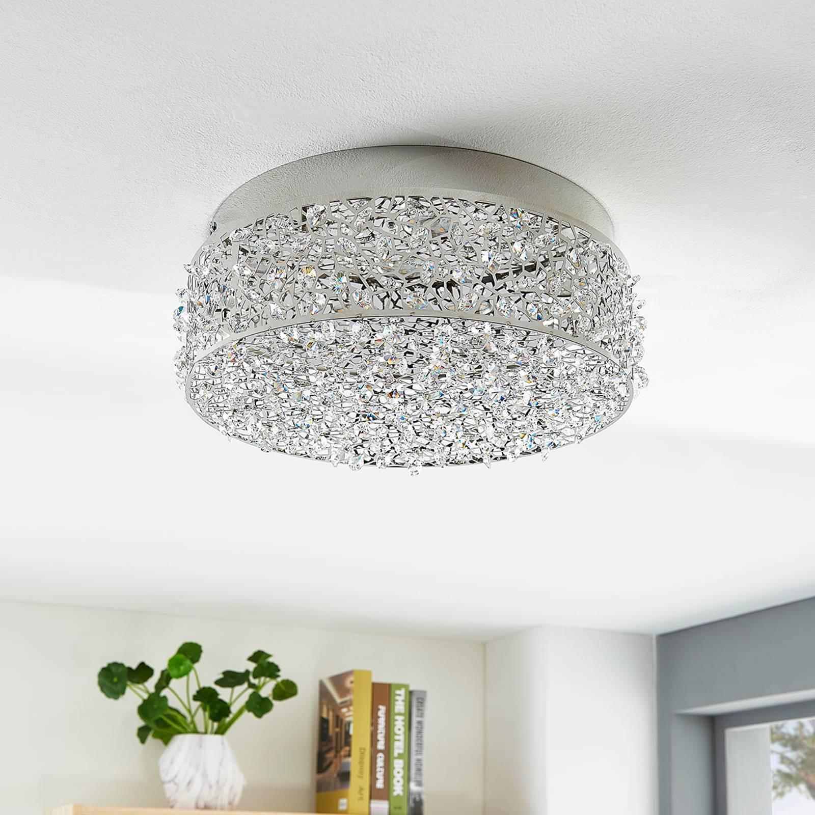 Kimalteleva LED-kattovalaisin Felias, pyöreämuoto
