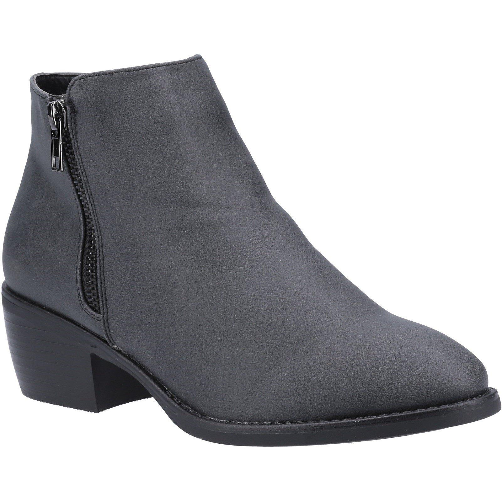 Divaz Women's Ruby Ankle Boot Various Colours 31096 - Black 3