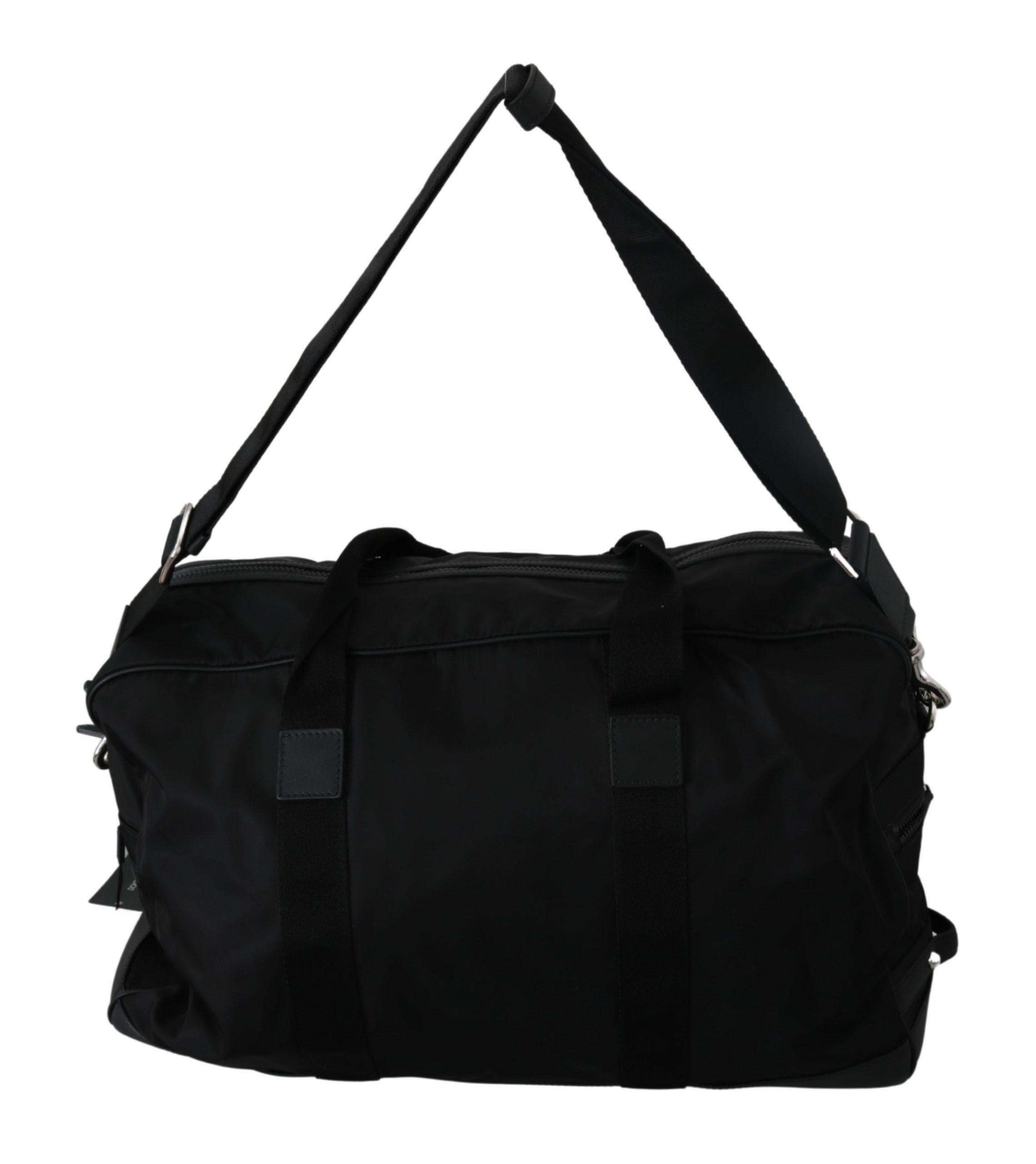Dolce & Gabbana Men's Shoulder Sling Travel Luggage Nylon Bag Black VAS9235
