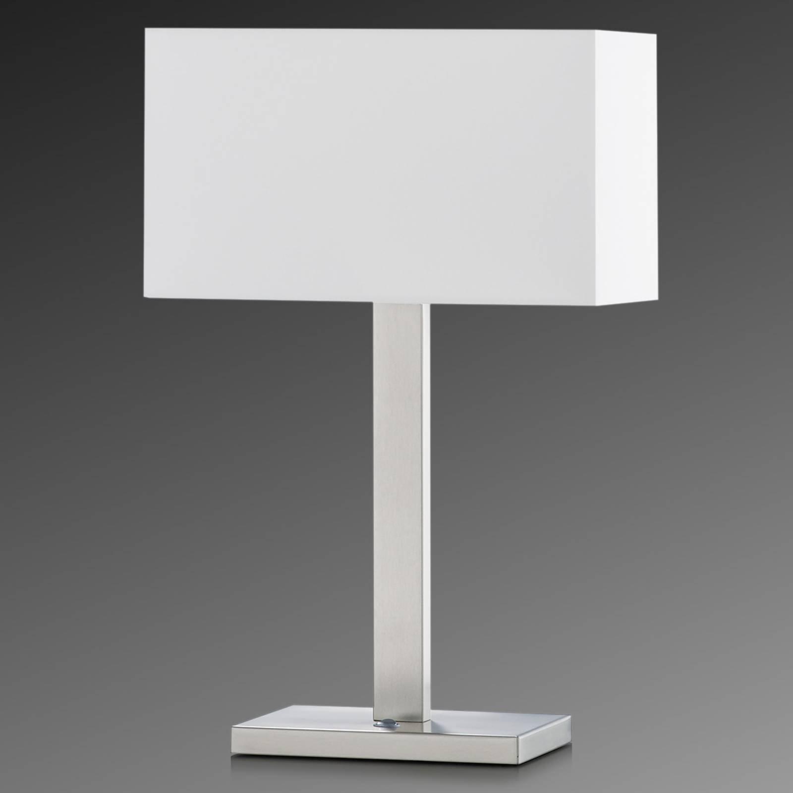 Bordlampe Nave med chintz-skjerm