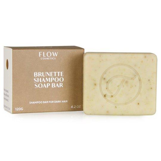 Flow Cosmetics Ekologisk Schampotvål för Mörkt hår, 120 g