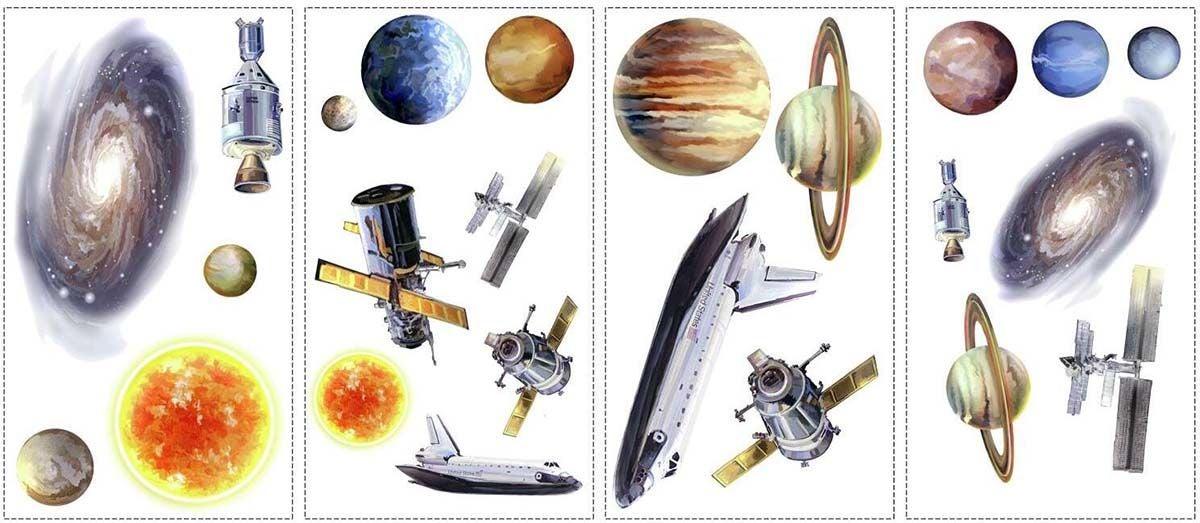 RoomMates Sisustustarrat Space Travel